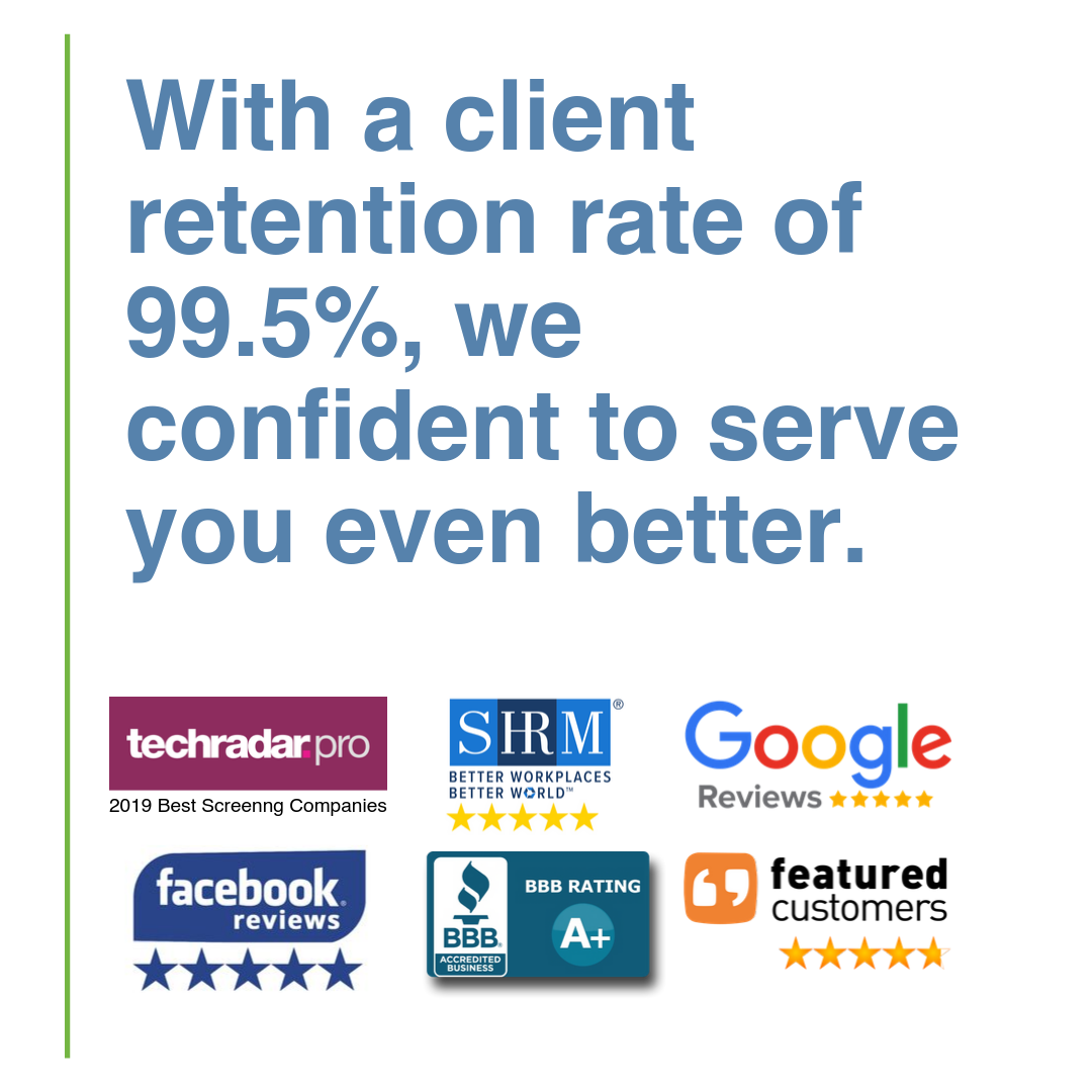 With a client retention rate of 99.5%, we confident to serve you even better.