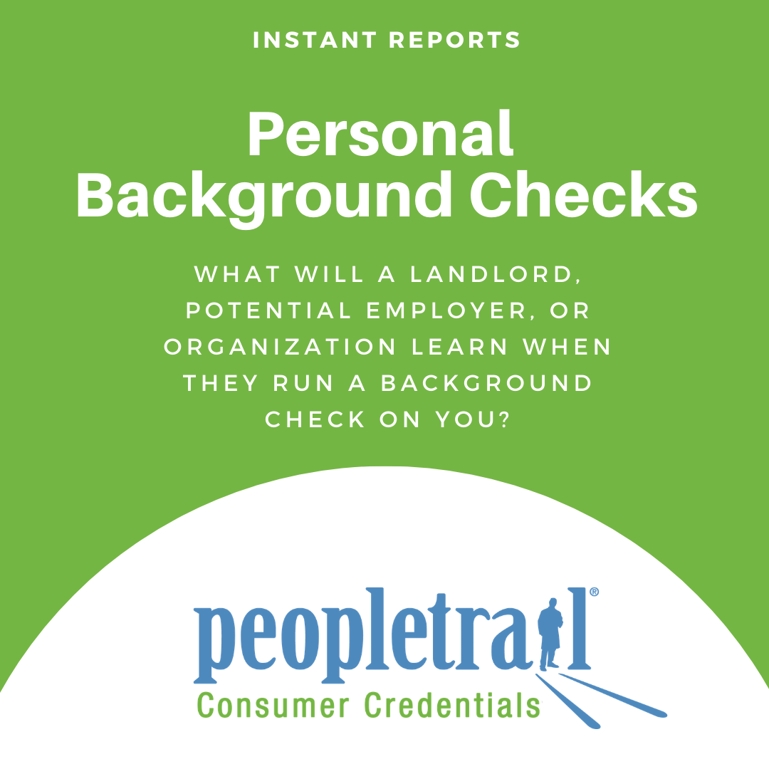 Personal background checks