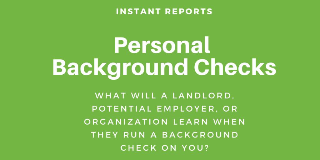 Personal background checks