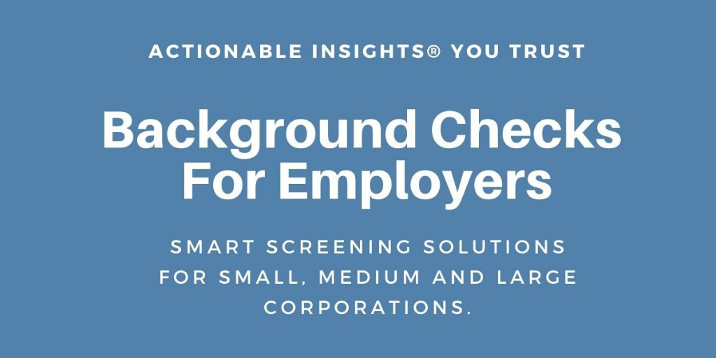 background checks for employers