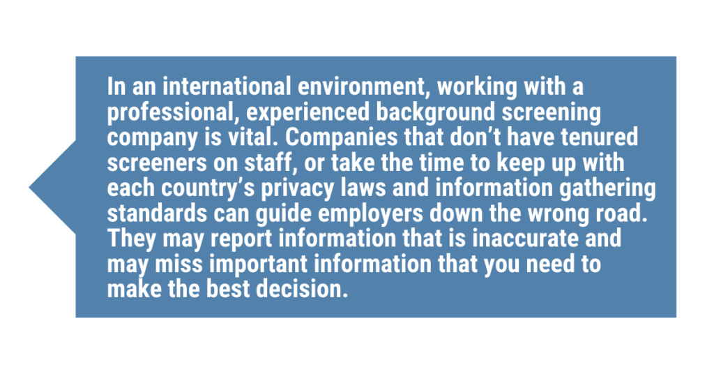 Global Background Checks  - 5 Things Your Specialist Should Know