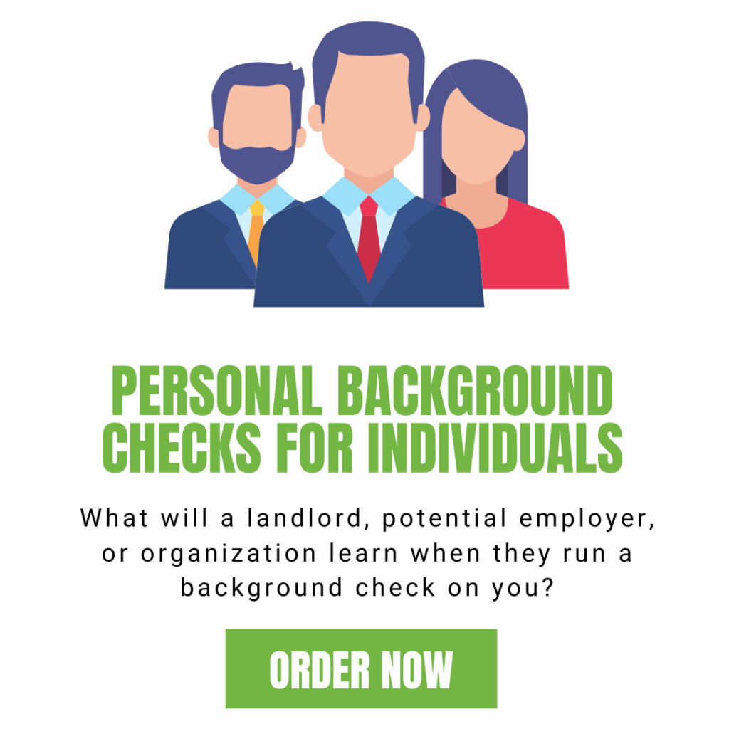 personal background check on yourself